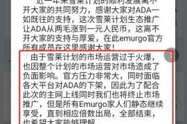 """【曝光】ADA资金盘Emurgo跑路,原因居然是各大交易所要""""下架""""ADA?"""